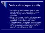 goals and strategies cont d