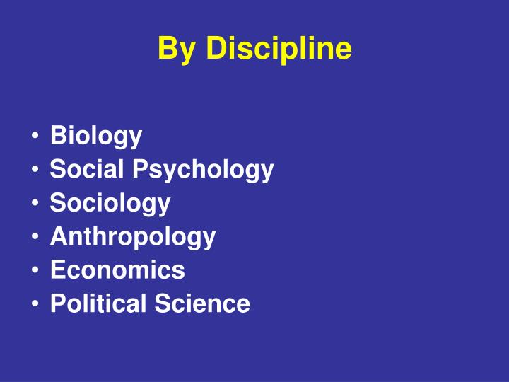 By Discipline