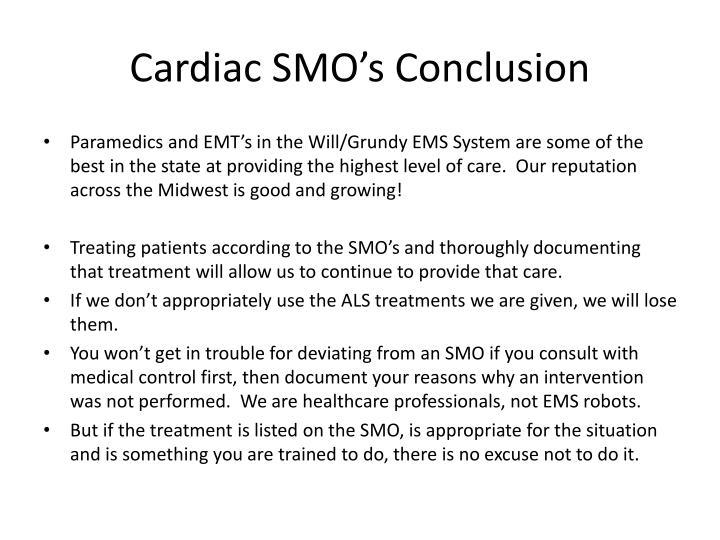 Cardiac SMO's Conclusion