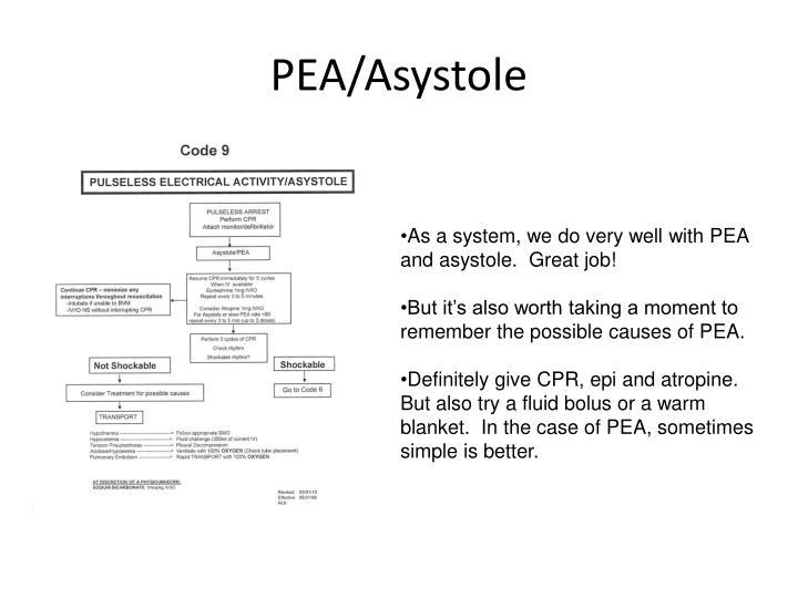 PEA/Asystole