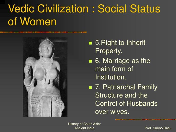 Vedic Civilization : Social Status of Women