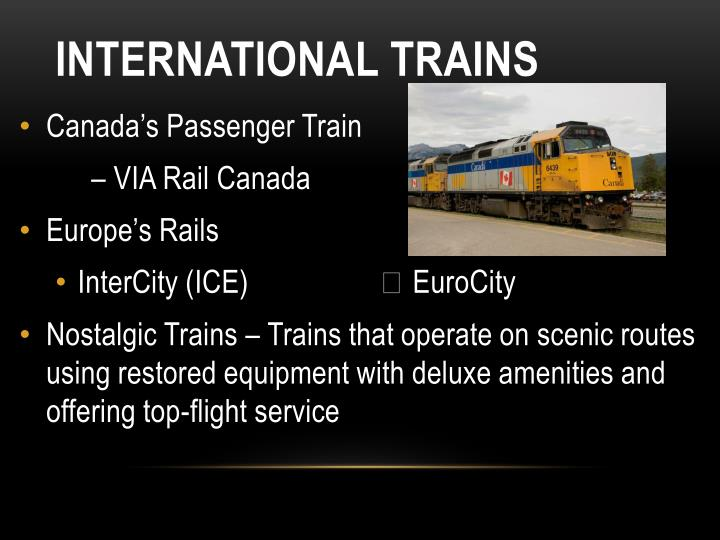 International Trains