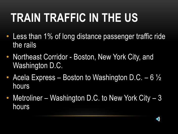 Train Traffic IN THE US