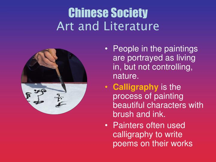 People in the paintings are portrayed as living in, but not controlling, nature.