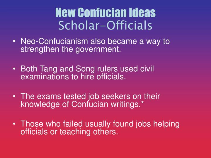 New Confucian Ideas