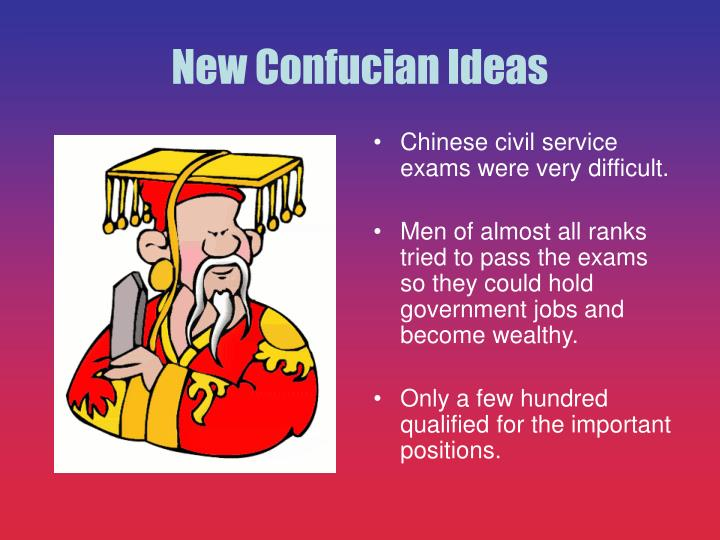 Chinese civil service exams were very difficult.