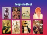 people to meet