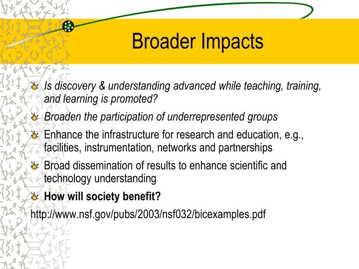 Broader Impacts