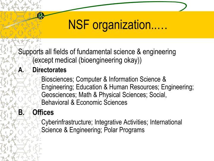 NSF organization..…