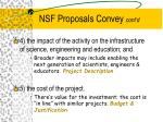 nsf proposals convey cont d1