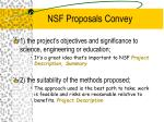 nsf proposals convey