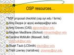 osp resources