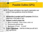 possible outline gpg