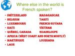 where else in the world is french spoken