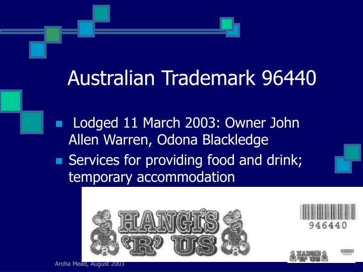 Australian Trademark 96440
