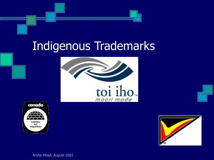 Indigenous Trademarks