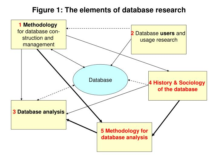 Figure 1 the elements of database research