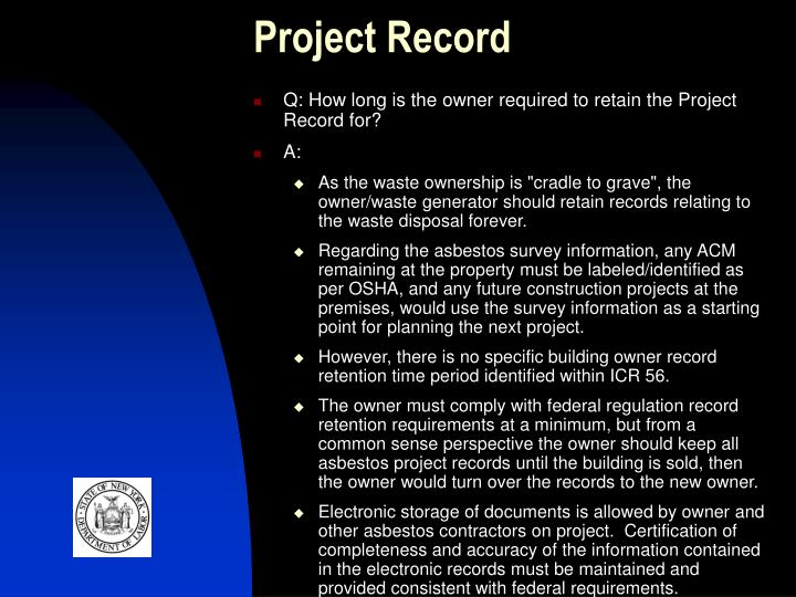 Project Record
