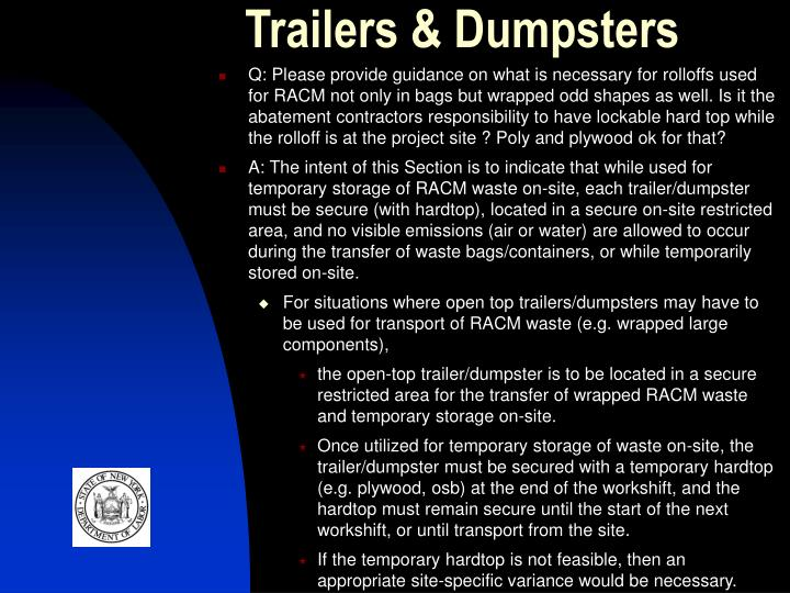 Trailers & Dumpsters