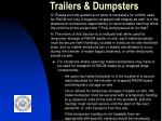 trailers dumpsters