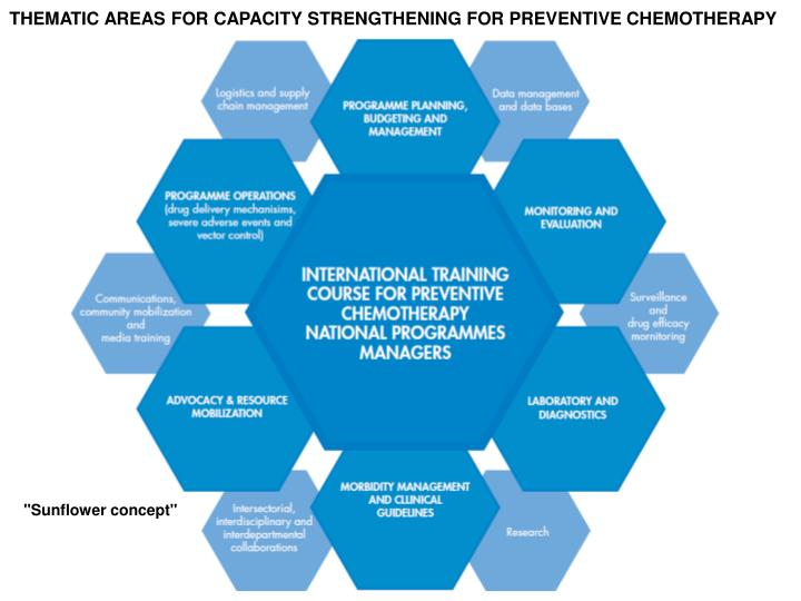 THEMATIC AREAS FOR CAPACITY STRENGTHENING FOR PREVENTIVE CHEMOTHERAPY