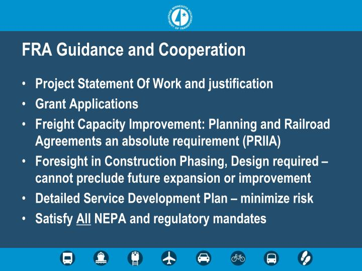 FRA Guidance and Cooperation