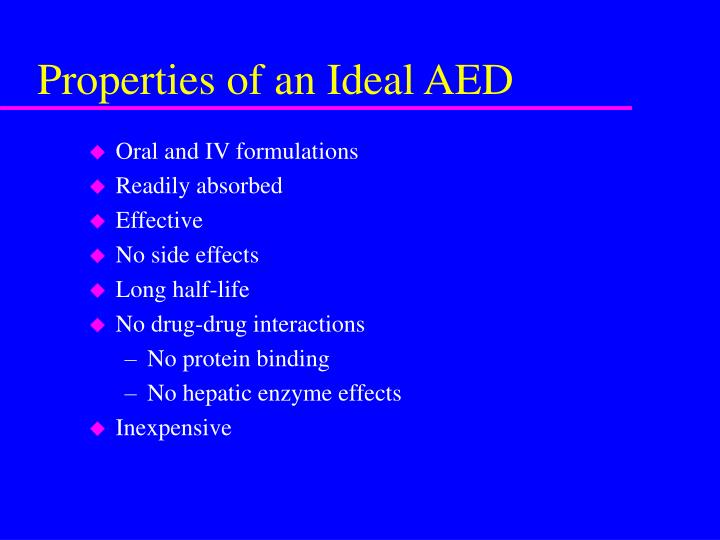 Properties of an ideal aed