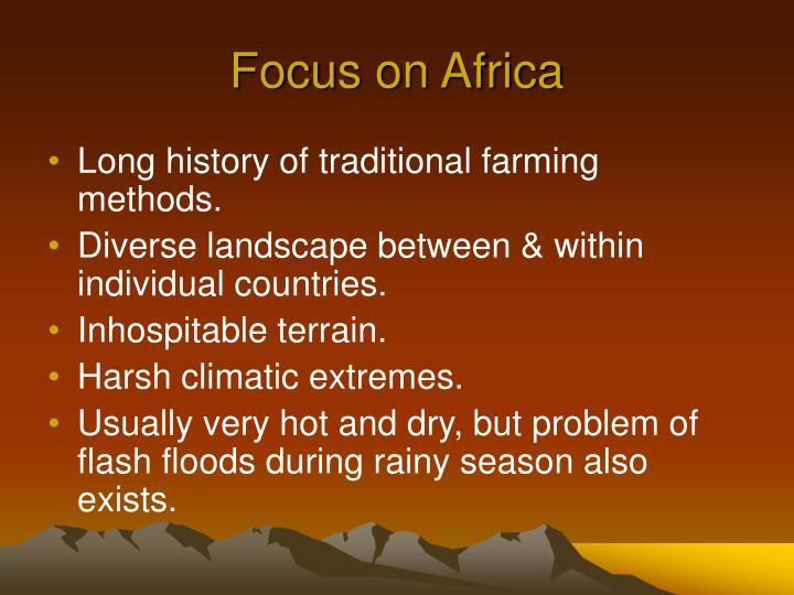 Focus on Africa