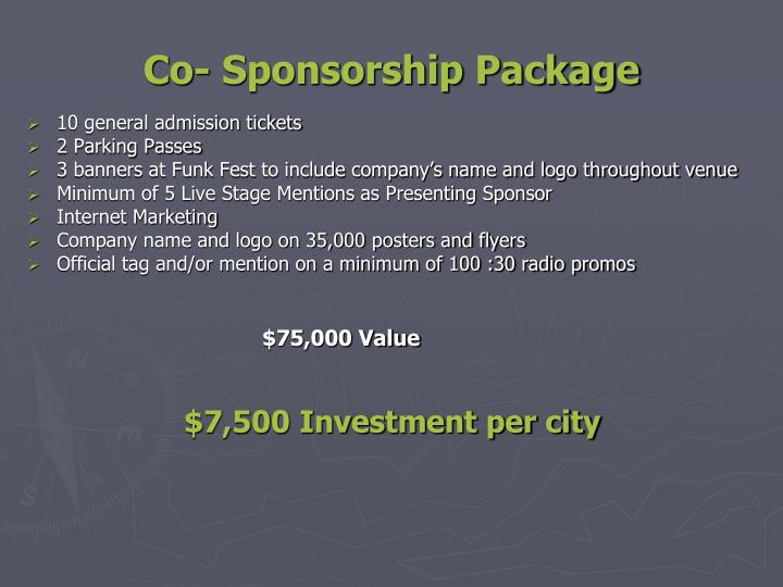 Co- Sponsorship Package