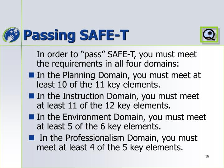 Passing SAFE-T