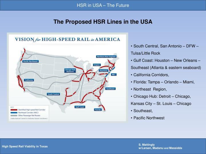 HSR in USA – The Future