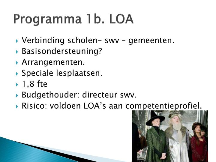Programma 1b. LOA