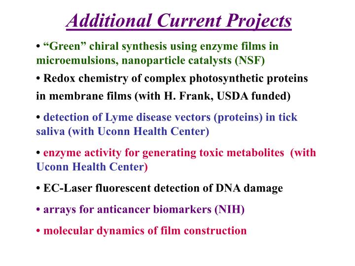 Additional Current Projects