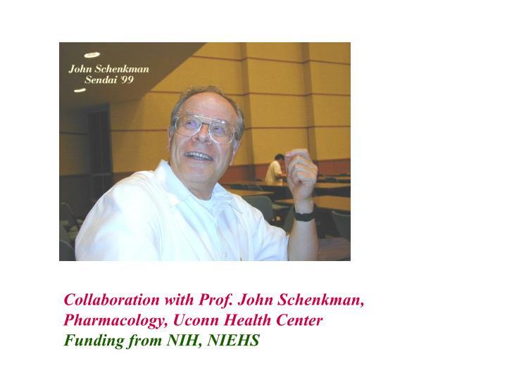 Collaboration with Prof. John Schenkman,