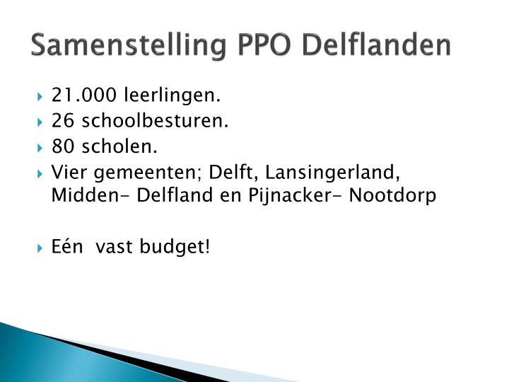 Samenstelling PPO Delflanden