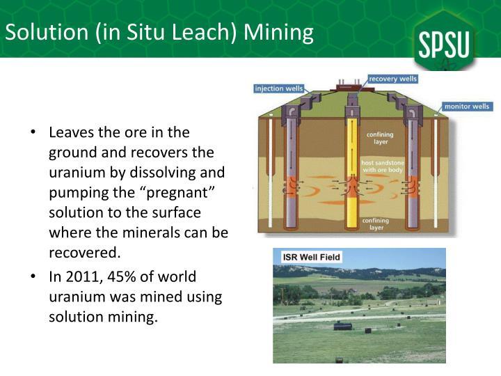 Solution (in Situ Leach) Mining
