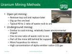 uranium mining methods