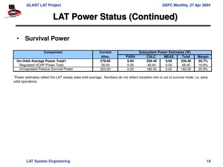 Survival Power