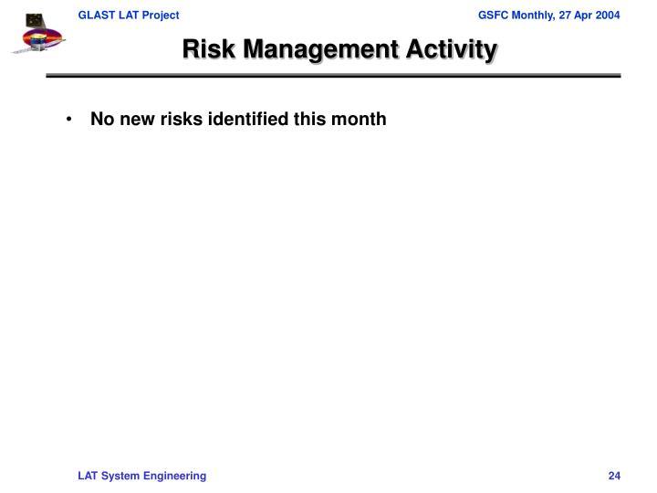 Risk Management Activity