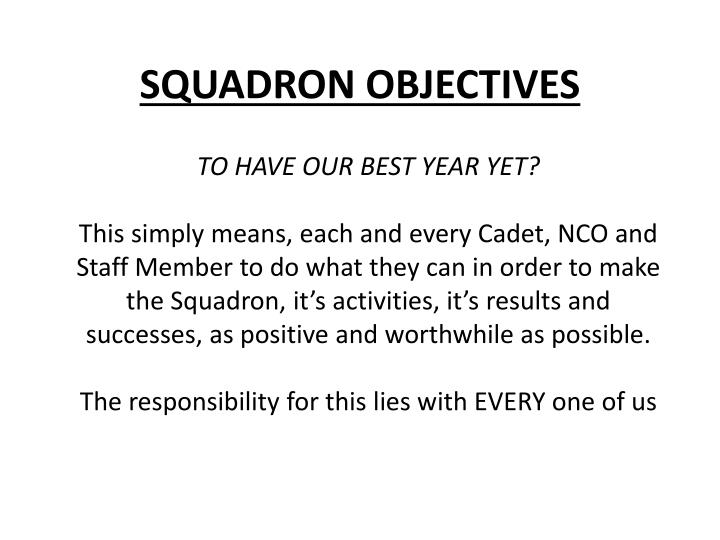 Squadron objectives1