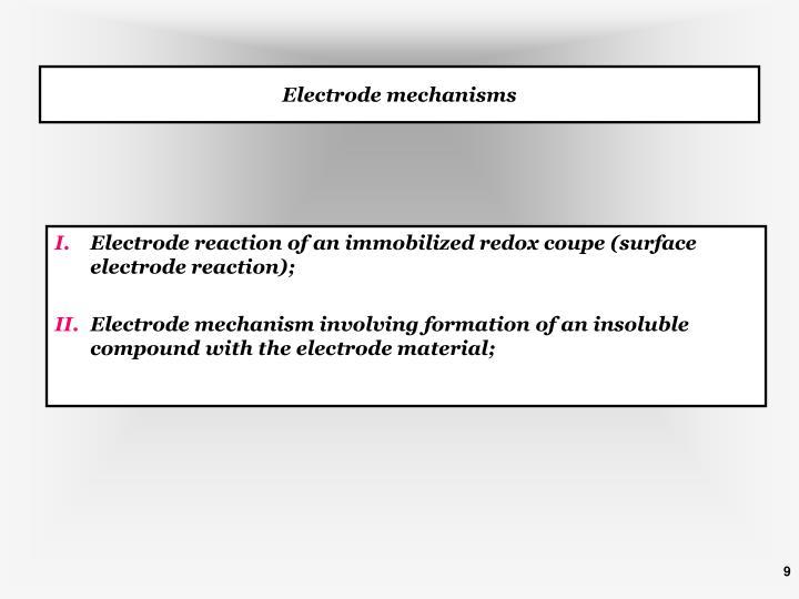 Electrode mechanisms