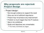 why proposals are rejected project design