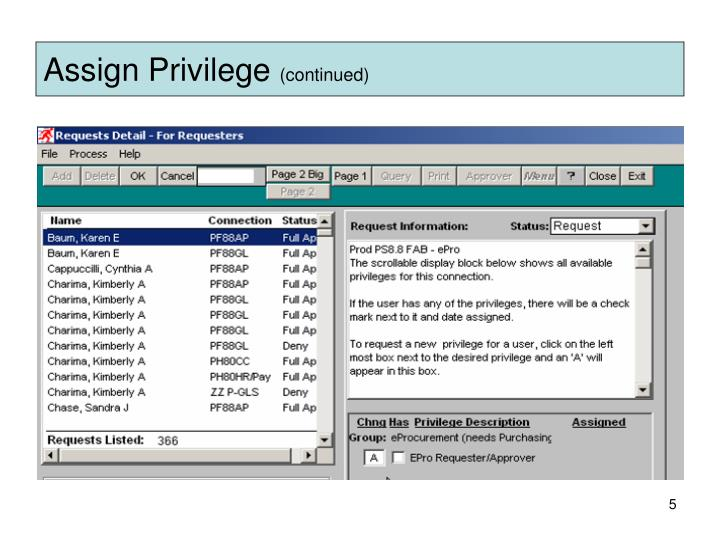 Assign Privilege
