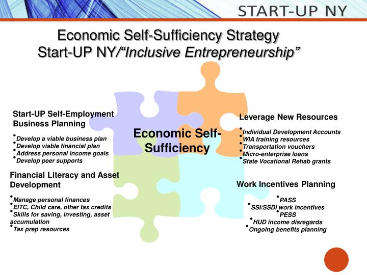 Economic Self-Sufficiency Strategy