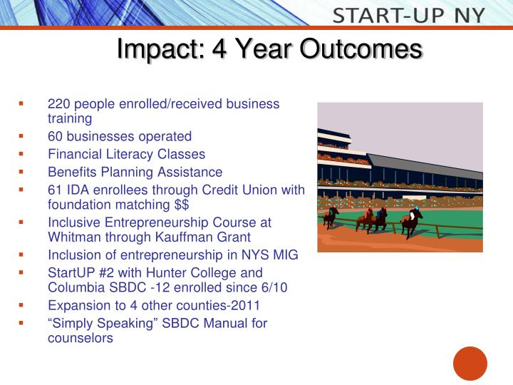 Impact: 4 Year Outcomes