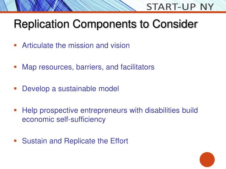 Replication Components to Consider