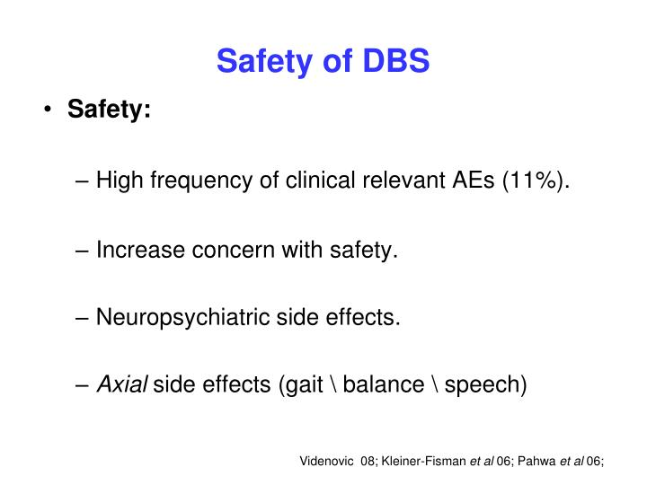 Safety of DBS