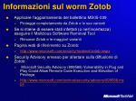 informazioni sul worm zotob