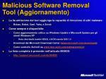malicious software removal tool aggiornamento