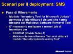 scenari per il deployment sms